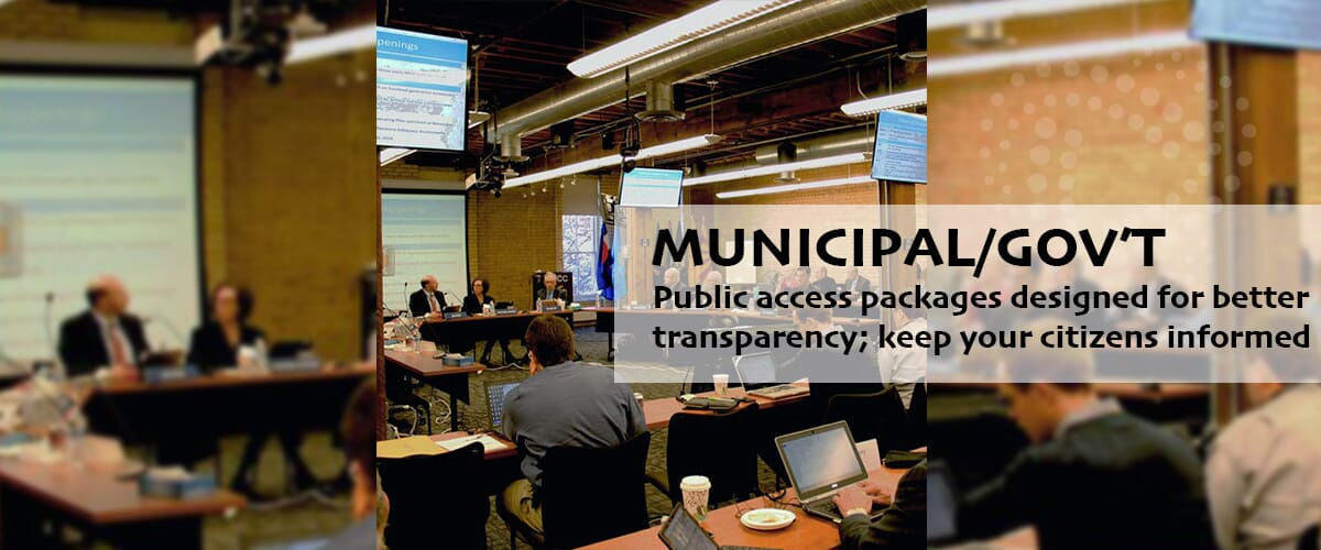 Public access bundled packages: streaming solutions for municipal TV